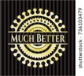 much better golden emblem | Shutterstock .eps vector #736103479