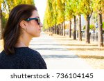 business young woman wearing... | Shutterstock . vector #736104145
