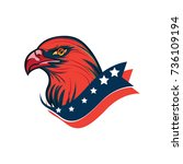 eagle mascot | Shutterstock .eps vector #736109194