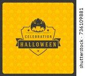 halloween celebration greeting... | Shutterstock .eps vector #736109881
