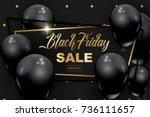 black friday banner  vector... | Shutterstock .eps vector #736111657