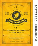halloween celebration night...   Shutterstock .eps vector #736111801