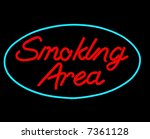 smoking area neon sign isolated ...   Shutterstock . vector #7361128