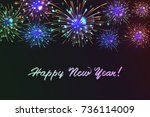 happy new 2018 year. seasons... | Shutterstock .eps vector #736114009