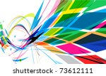 abstract colorful mosaic... | Shutterstock .eps vector #73612111