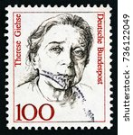 germany   circa 1988  a stamp... | Shutterstock . vector #736122049
