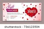 gift voucher  certificate or... | Shutterstock .eps vector #736123504