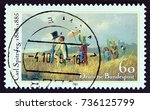 germany   circa 1985  a stamp... | Shutterstock . vector #736125799
