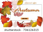 autumn calligraphy. seasonal... | Shutterstock .eps vector #736126315