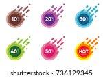 set of sale discount banners.... | Shutterstock .eps vector #736129345