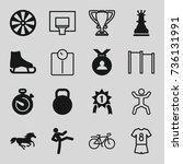 Sport Icons Set. Set Of 16...
