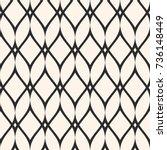 mesh seamless pattern  thin... | Shutterstock .eps vector #736148449