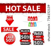 sales banner template mix ... | Shutterstock .eps vector #736152139