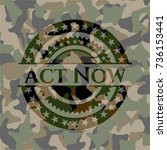 act now on camouflage pattern | Shutterstock .eps vector #736153441