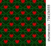 heart seamless pattern. fashion ... | Shutterstock .eps vector #736156555