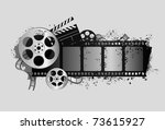 design elements of movie theme... | Shutterstock .eps vector #73615927