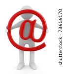 E Mail Concept On White...
