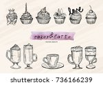vector illustration. coffee cup ... | Shutterstock .eps vector #736166239