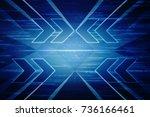2d illustration technology... | Shutterstock . vector #736166461