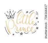 little prince vector poster... | Shutterstock .eps vector #736166617