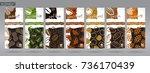 nuts packaging set   1   Shutterstock .eps vector #736170439