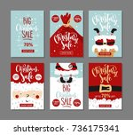 set of christmas sale banners. | Shutterstock .eps vector #736175341