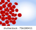 red blood cells on blue... | Shutterstock .eps vector #736180411