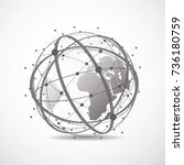 global network connection....   Shutterstock .eps vector #736180759