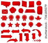 symbols set  | Shutterstock . vector #736185079