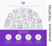 seo and development concept in... | Shutterstock .eps vector #736187461