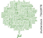 job. word collage on white... | Shutterstock .eps vector #73618978