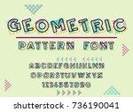 latin alphabet letters... | Shutterstock .eps vector #736190041