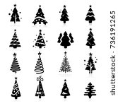 christmas tree icon | Shutterstock .eps vector #736191265