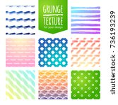set of colorful template for a... | Shutterstock .eps vector #736193239