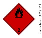 flammable gas  adr black and... | Shutterstock .eps vector #736194091
