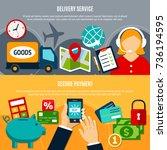 internet shopping horizontal... | Shutterstock .eps vector #736194595