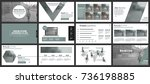 business presentation slides... | Shutterstock .eps vector #736198885