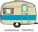 retro happy hippie vintage... | Shutterstock .eps vector #73619932