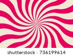strawberry candy pattern... | Shutterstock .eps vector #736199614