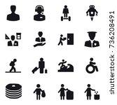 16 vector icon set   man  call... | Shutterstock .eps vector #736208491