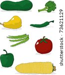 a collection of vegetable... | Shutterstock .eps vector #73621129