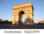 Small photo of Arc de Triomphe early on an October morning.