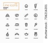 bakery concept   line design... | Shutterstock .eps vector #736216201