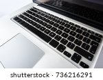 laptop keyboard isolated... | Shutterstock . vector #736216291