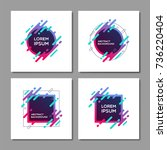 set of trendy abstract... | Shutterstock .eps vector #736220404