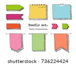 hand drawn cartoon vector set...   Shutterstock .eps vector #736224424