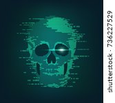 concept of cyber crime ...   Shutterstock .eps vector #736227529
