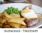 Gammon Ham With Chips And Peas...
