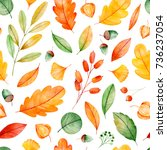 seamless pattern with high... | Shutterstock . vector #736237054