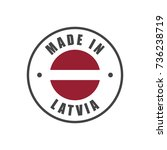 """""""made in latvia"""" badge with...   Shutterstock .eps vector #736238719"""